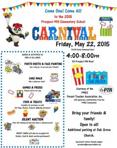 {FREE} Carnival at Prospect Mill Elementary School in Bel Air – May 22