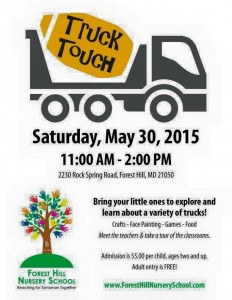 Truck Touch Event at Forest Hill Nursery School – May 30