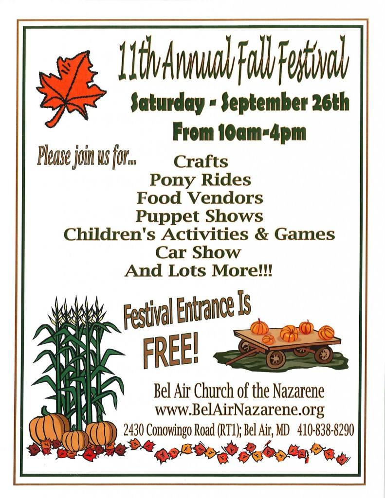 Event - 09.26.15 - Fall Festival Church of the Nazarene