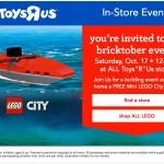 {FREE} Make a FREE Mini LEGO® City Kayak at Toys R Us! – (October 17)