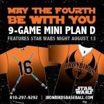 Star Wars Night at the Aberdeen Ironbirds Game – {August 13th}