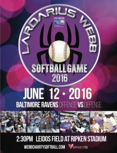 7th Annual Lardarius Webb Celebrity Softball Game at Ripken Stadium – June 12