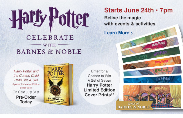 free harry potter event at barnes \u0026 noble bel air june 24this friday june24th at 7pm, the barnes \u0026 noble in bel air will be posting a free relive the magic of harry potter event