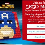 Make a FREE LEGO® Captain America Mosaic at Toys R Us – August 27