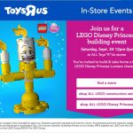 Free LEGO® Disney Princess Event at Toys R Us – September 24