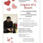 Basket Bingo Fundraiser in Memory of Greg Knapstein – Forest Hill – September 17