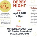 St. Joan of Arc School Derby Night Fundraiser – April 1