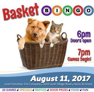 Basket Bingo Fundraiser for Homeless Animals – August 11