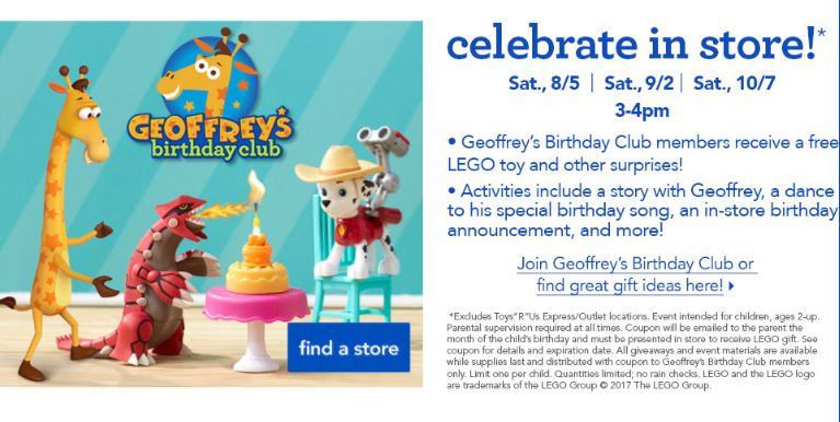 Toys R Us Birthday Party : Geoffrey s birthday celebration at toys r us harford