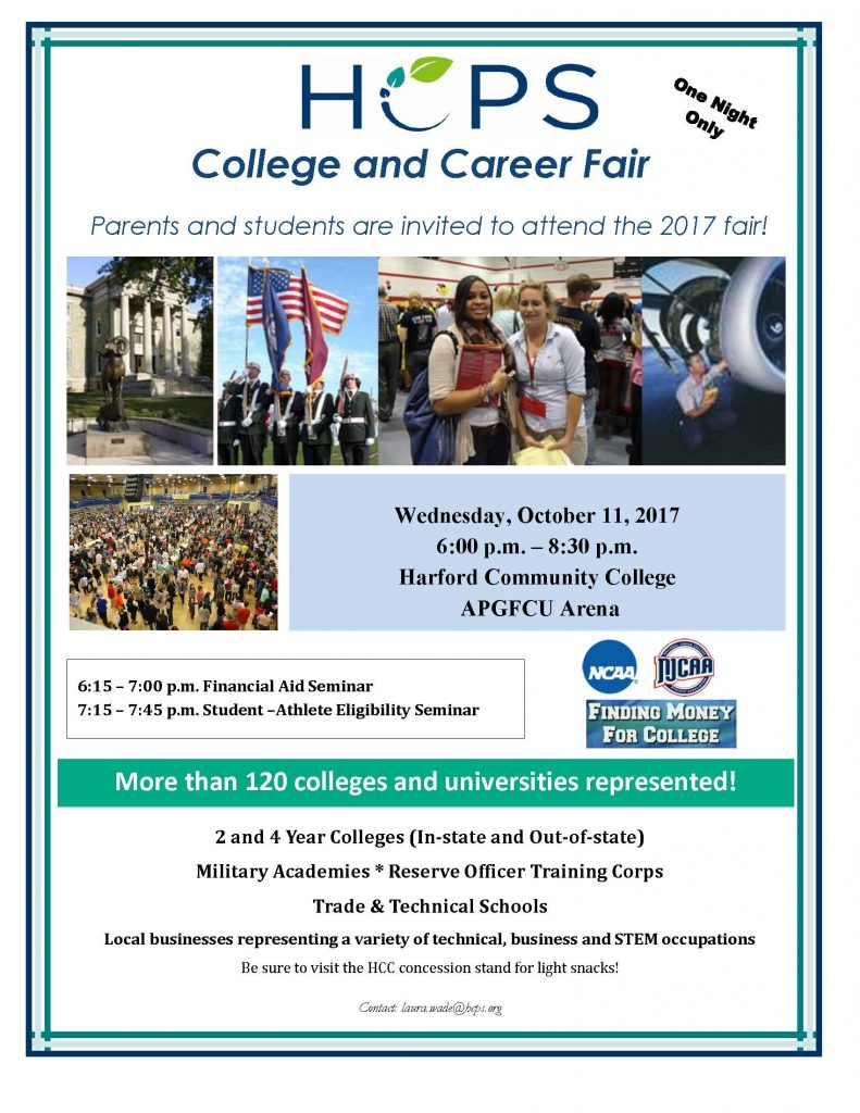 flyer college and career fair 2017 advertising single sided