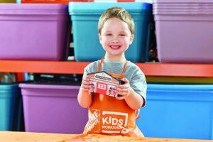 Home Depot Kids Workshop: Build a Fire House Bank