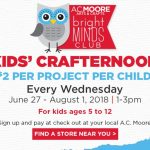 A.C. Moore to hold Kids' Crafternoons This Summer!