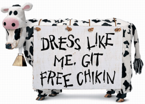 FREE Chick-Fil-A When You Dress Like a Cow on July 10