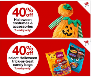 40 off halloween costumes accessories at target today only online in stores