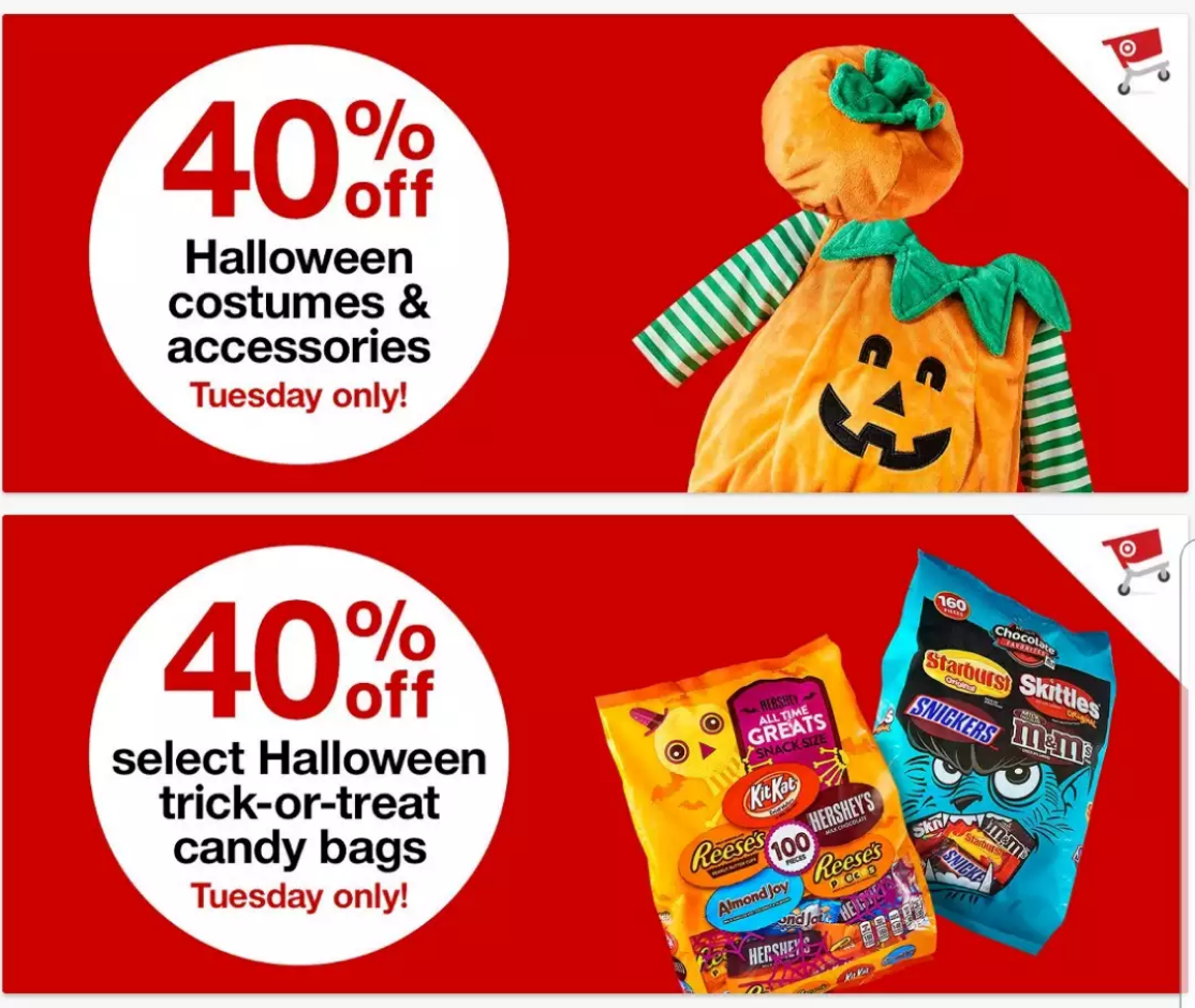 40 off halloween costumes accessories at target today only online in stores harford happenings