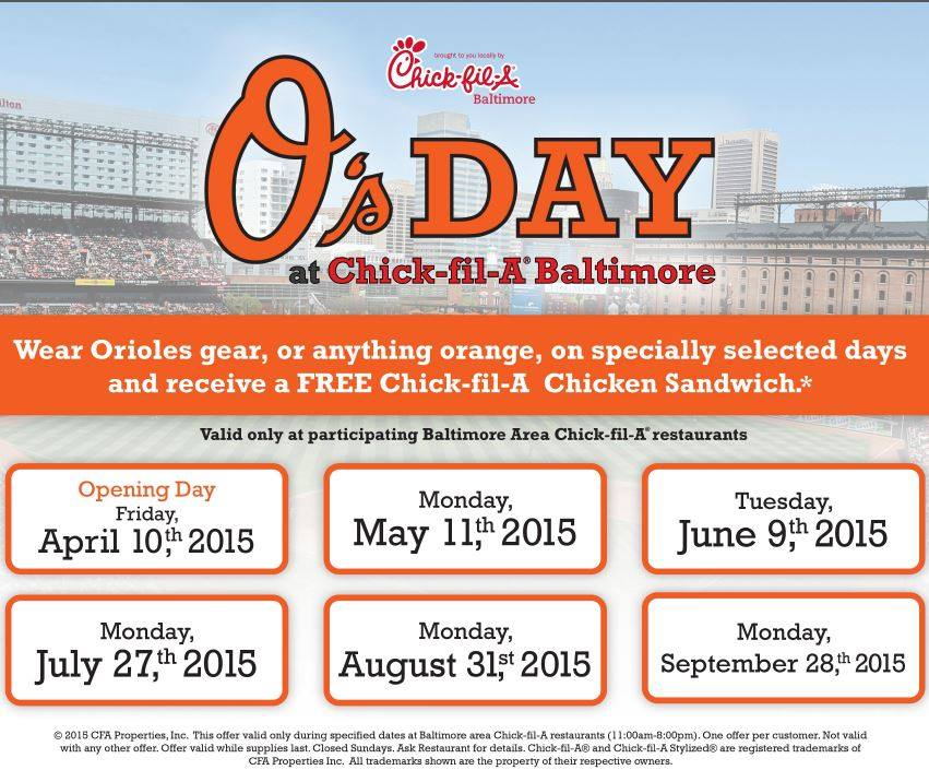 {FREE} Wear orange and get a FREE sandwich at Chick-fil-A – September 28