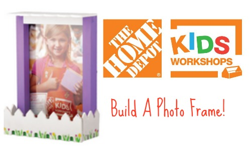 Build a Picket Fence Photo Frame at Home Depot {FREE}