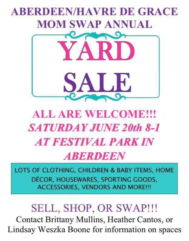 Aberdeen/Havre de Grace Mom Swap Annual Yard Sale – {June 20}