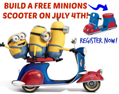{FREE} Register NOW for Home Depot Kids Workshop and build a Minions Scooter – July 4