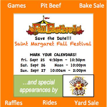 St. Margaret's Annual Fall Festival in Bel Air {September 25-27}
