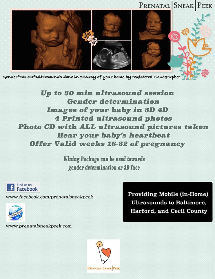 Prenatal Sneak Peek Flyer