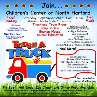 Chidren's Center of North Harford – Touch A Truck Event {September 26}