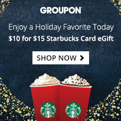 $10 for a $15 Starbucks Card eGift!