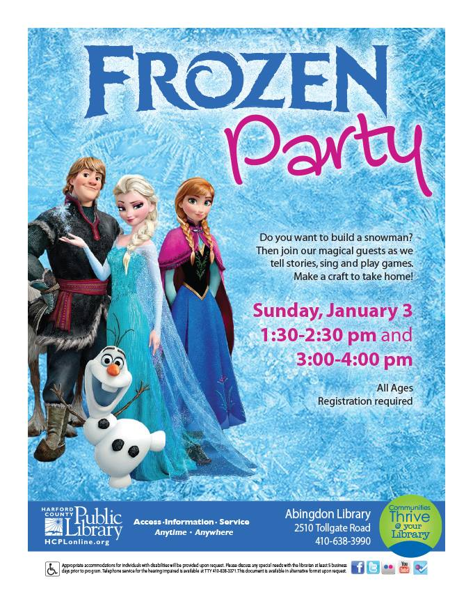 Event - HCPL - 01.03.16 - Frozen Party - Abingdon