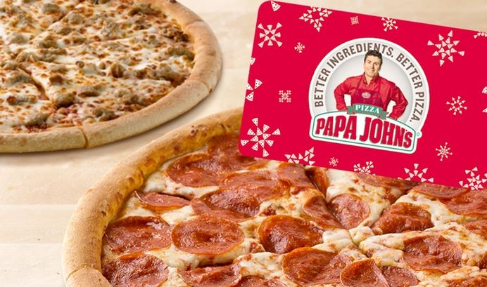 Get two free large pizzas at Papa Johns!