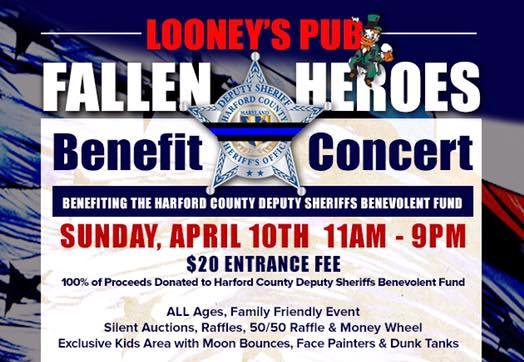 Benefit Concert for Harford County's Fallen Heroes at Looney's Pub – {April 10}