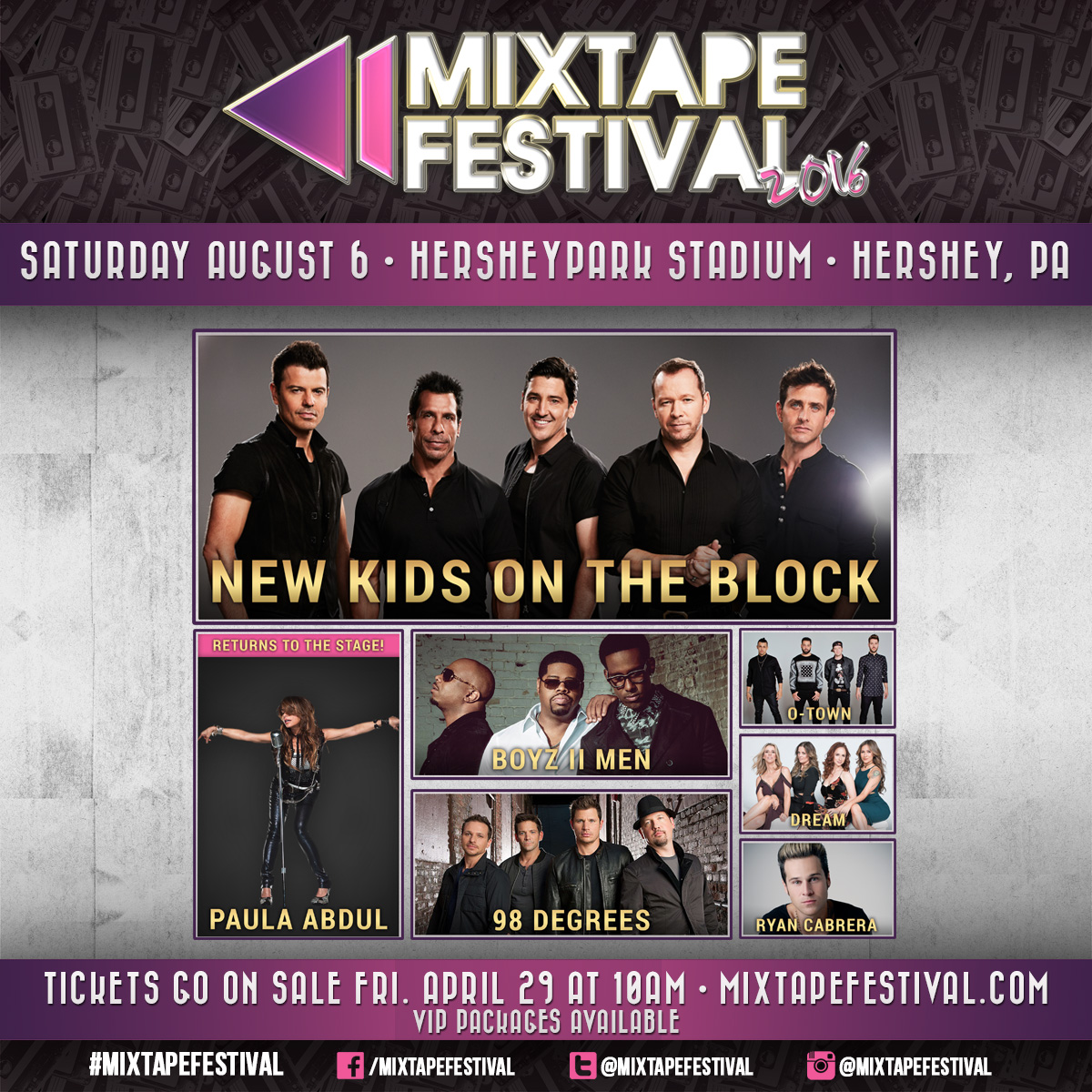 $20 Tickets to see NKOTB, Paula Abdul and Boyz II Men in Hershey! – August 6