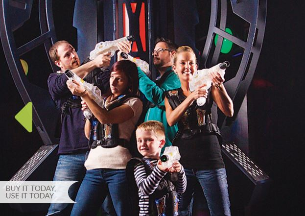 Laser tag for 4 people only $15 at Red Zone Adventures in Timonium