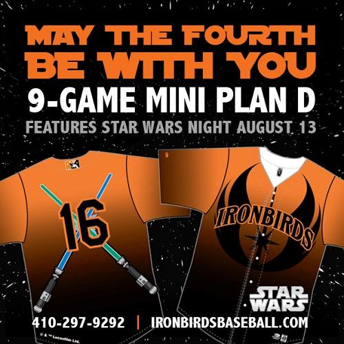 Star Wars Night at the Aberdeen Ironbirds Game – {August 13th}