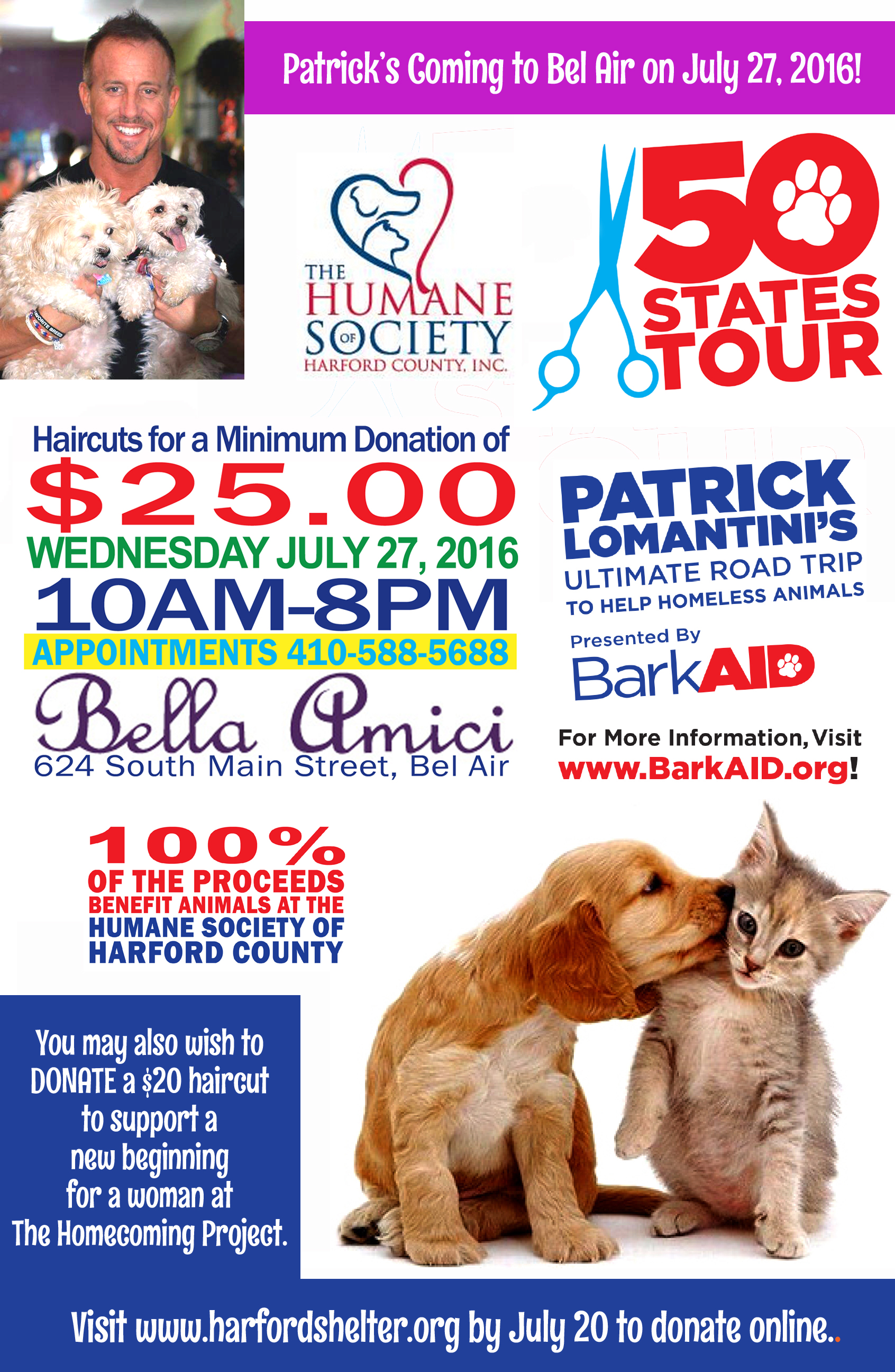 Hair Stylist Cuts Across the Country to Help Homeless Animals Visits Harford Salon