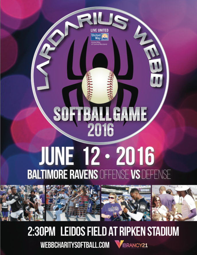7th Annual Lardarius Webb Celebrity Softball Game at Ripken Stadium – June 12
