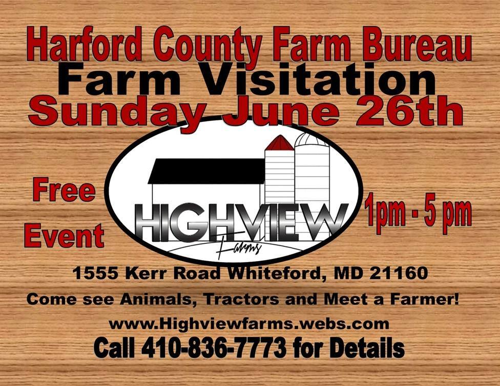 Farm Visitation Day at Highview Farms in Whiteford – June 26