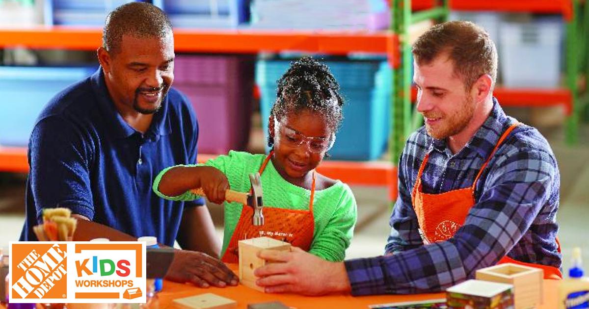 FREE Kids Workshop at Home Depot | Build a Rain Gauge – March 4
