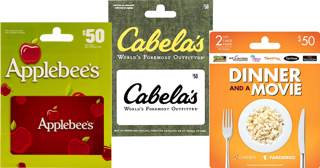 Amazon Gift Card Deals Today Only! Save at Applebee's, Ruby Tuesdays and Fandango!