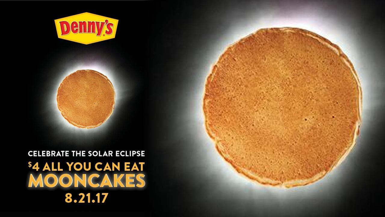 All You Can Eat Mooncakes at Denny's TODAY for only $4 – Celebrate the eclipse!