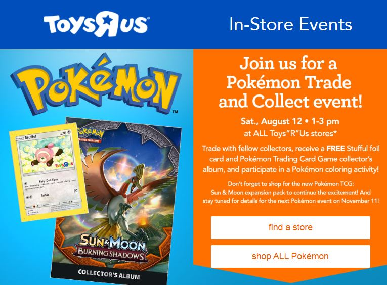 Toys R Us  Pokémon Trade and Collect Event