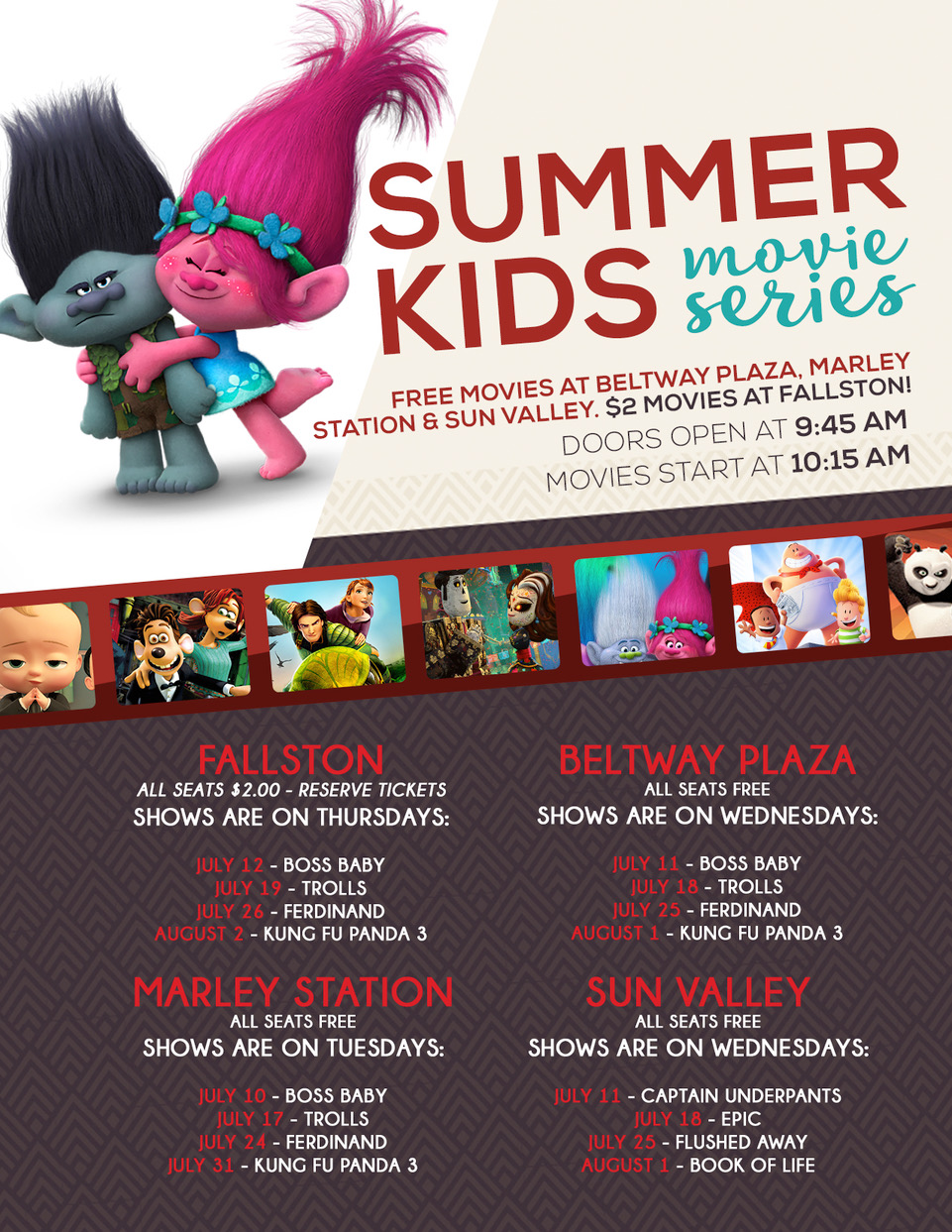 Summer Kids Movie Series – Horizon Cinemas