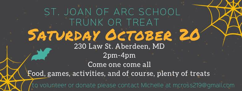 St. Joan of Arc Trunk or Treat