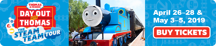 Win Tickets to Day Out With Thomas at The B & O Railroad Museum – April 26 2019