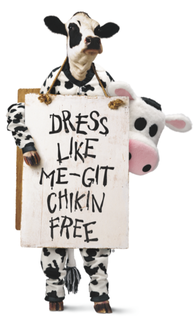 FREE Chick-fil-A When You Dress Like a Cow on July 9