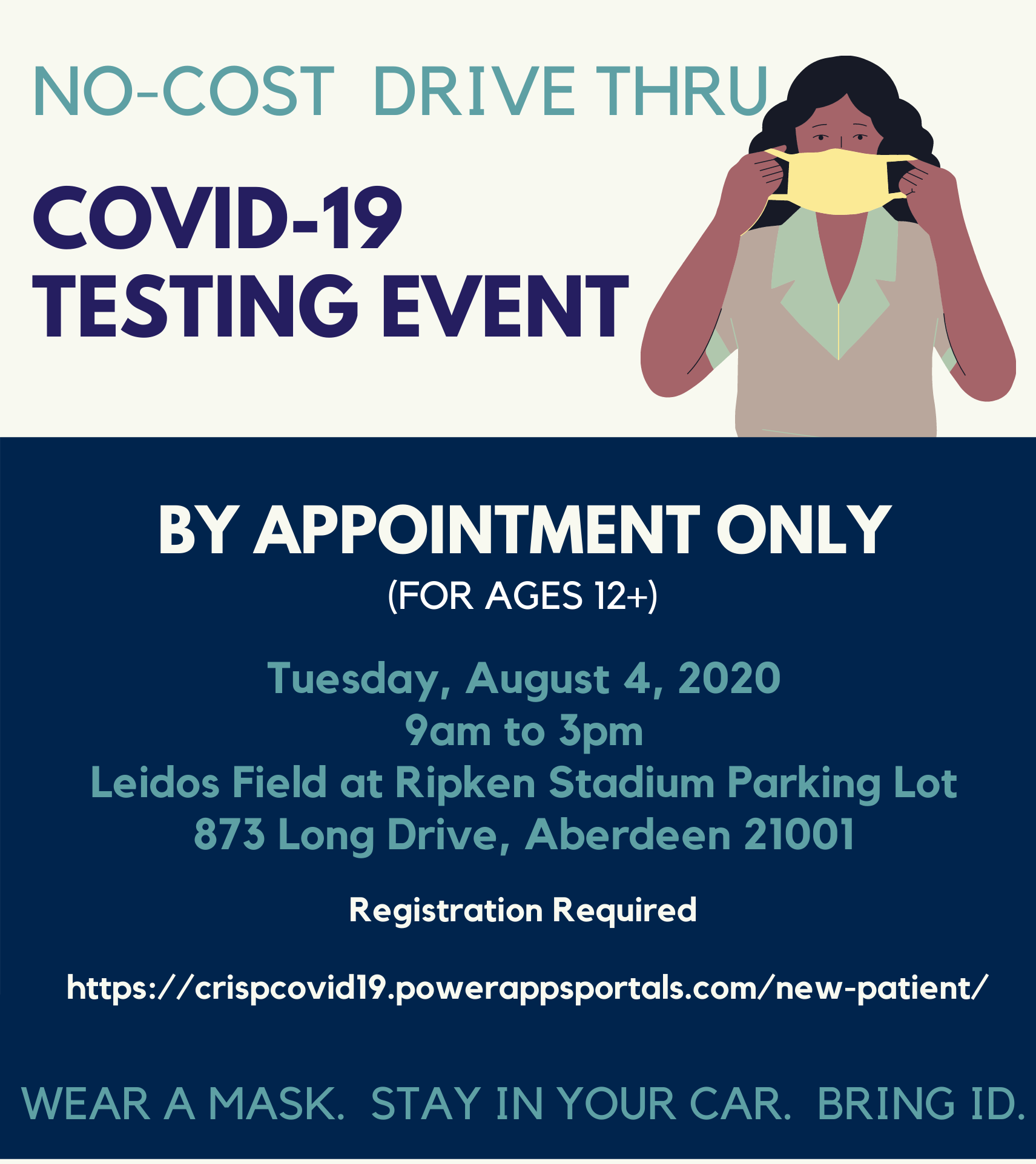 Harford County Health Department To Hold No Cost Drive Thru COVID-19 Testing on August 4th
